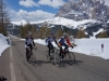 Riding towards Gardena pass (Cycling Dolomites)