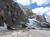Snow in the mountains (Cycling  Dolomites)