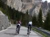 Thomas and Marco climbing Sella pass (Cycling  Dolomites)