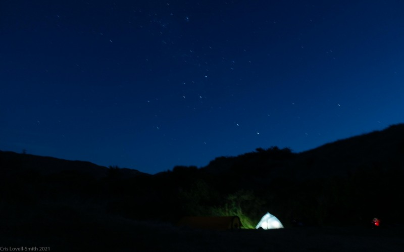 Bed time at camp (D'Urville Island Bike Packing Feb 2021)