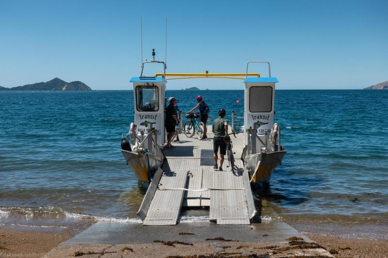 Boarding the ferry (D'Urville Island Bike Packing Feb 2021)