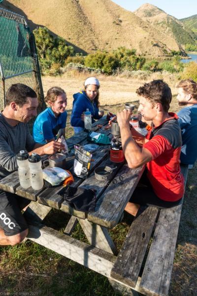 Dinner time (D'Urville Island Bike Packing Feb 2021)