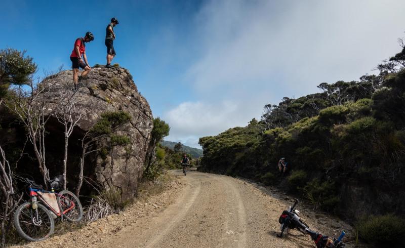 Taking a break (D'Urville Island Bike Packing Feb 2021)