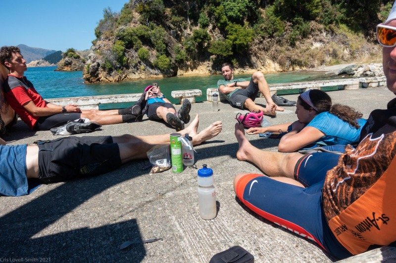 Waiting for the ferry (D'Urville Island Bike Packing Feb 2021)