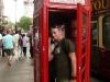 Cris phones home to discuss his subway (London)