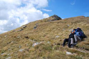 A couple in the mountains (Fagaras Mountains)