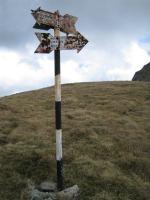 A sign (Fagaras Mountains)