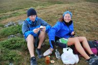 Mark and Sylvia having lunch (Fagaras Mountains)