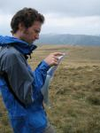 Mark navigating (Fagaras Mountains)