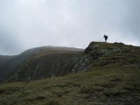 Mark on hill (Fagaras Mountains)