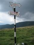 Sign post (Fagaras Mountains)
