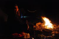 Sylvia by the fire 2 (Fagaras Mountains)