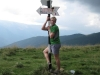 Cris and sign post (Fagaras Mountains)