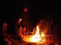 Fire at camp (Fagaras Mountains)