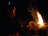 Sylvia by the fire (Fagaras Mountains)