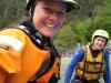 Grit and Birgit in the raft (Faszi Adventure, Haiming, Austria)