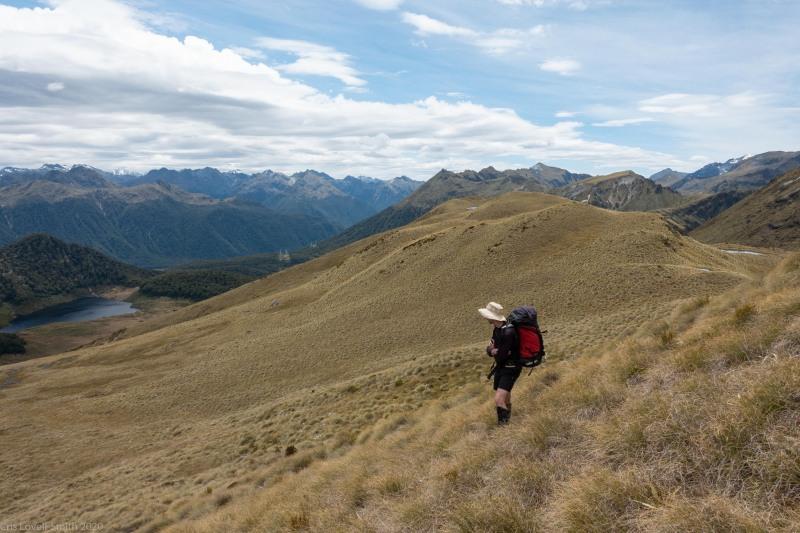 Craig on the ridge (Fiordland Dec 2020)