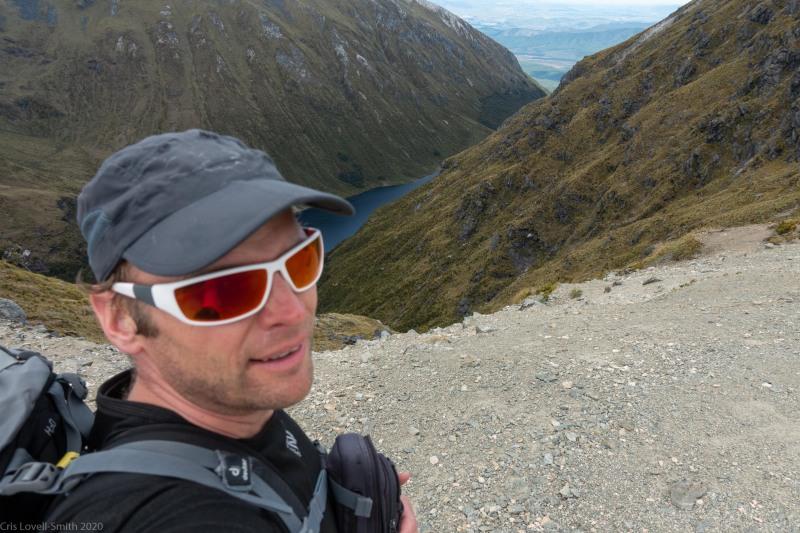 Cris on the ridge (Fiordland Dec 2020)