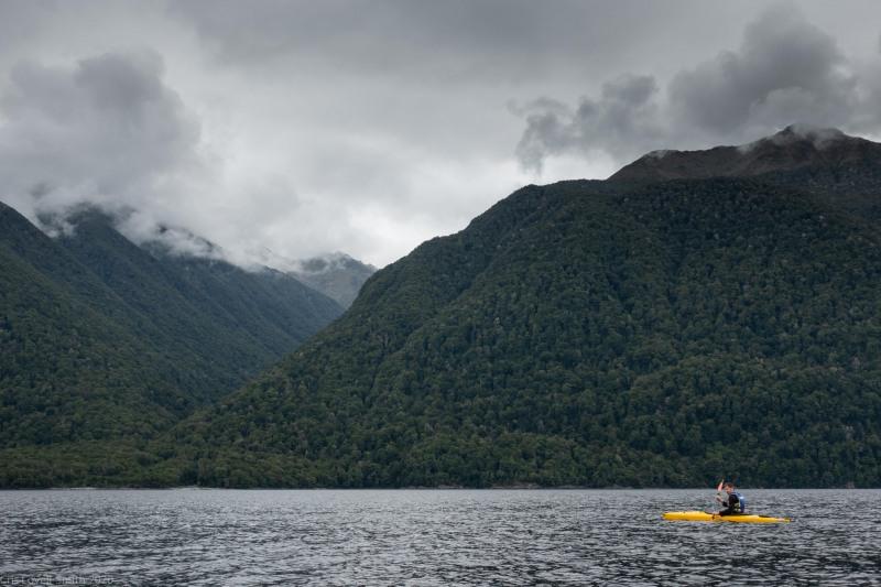Kayaking on Manapouri (Fiordland Dec 2020)