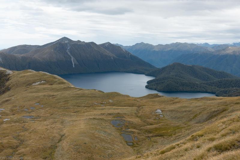 View down towards Green Lake (Fiordland Dec 2020)