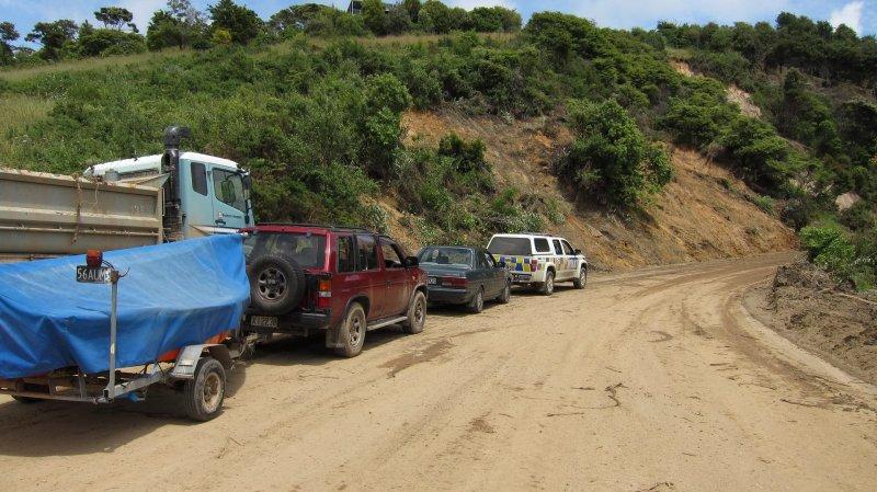 Convoy waiting to leave Ligar Bay (Ligar Bay)