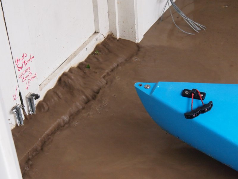 Water coming into the garage (Ligar Bay)