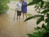 Mum and Gina in flood (Ligar Bay)