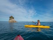 Jane kayaking (Wainui Inlet)