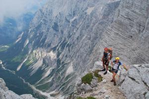 A long way down below (Triglav Nat. Park, Slovenia)