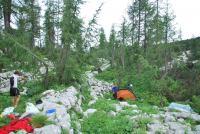 Camp site (Triglav NP, Slovenia)