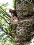 Chris ascending (Triglav Nat. Park, Slovenia)