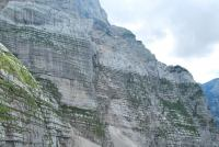 Cliffs with via feratta route (Triglav Nat. Park, Slovenia)