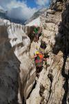Climbing between snow and rock 2 (Triglav Nat. Park, Slovenia)