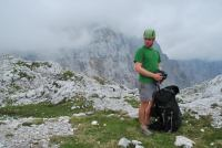 Cris being a nong (Triglav Nat. Park, Slovenia)