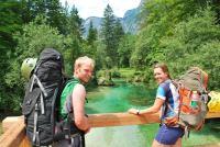 Cris + Em and delicious river (Triglav Nat. Park, Slovenia)