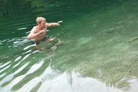 Cris stalking fishies (Triglav Nat. Park, Slovenia)