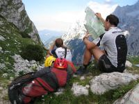 Em + Chris at saddle (Triglav Nat. Park, Slovenia)