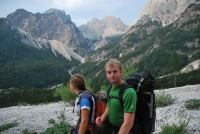 Em + Cris in valley (Triglav Nat. Park, Slovenia)