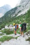 Em + Cris walk down valley (Triglav Nat. Park, Slovenia)