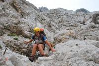 Emily descending 2 (Triglav Nat. Park, Slovenia)