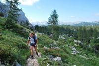 Emily walking (Triglav NP, Slovenia)