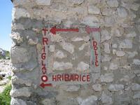 Sign 2 (Triglav Nat. Park, Slovenia)