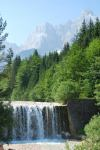 Waterfall and mountains (Triglav Nat. Park, Slovenia)