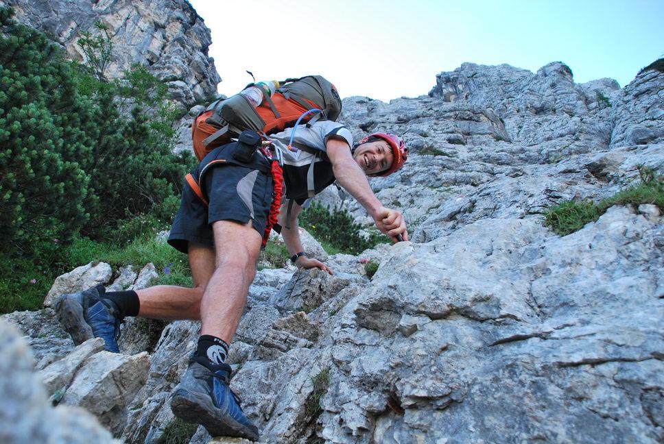 Chris climbing (Triglav Nat. Park, Slovenia)