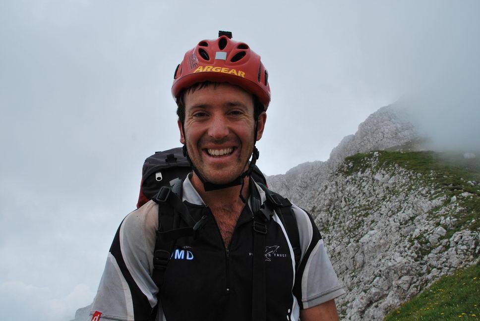 Chris grinning (Triglav Nat. Park, Slovenia)