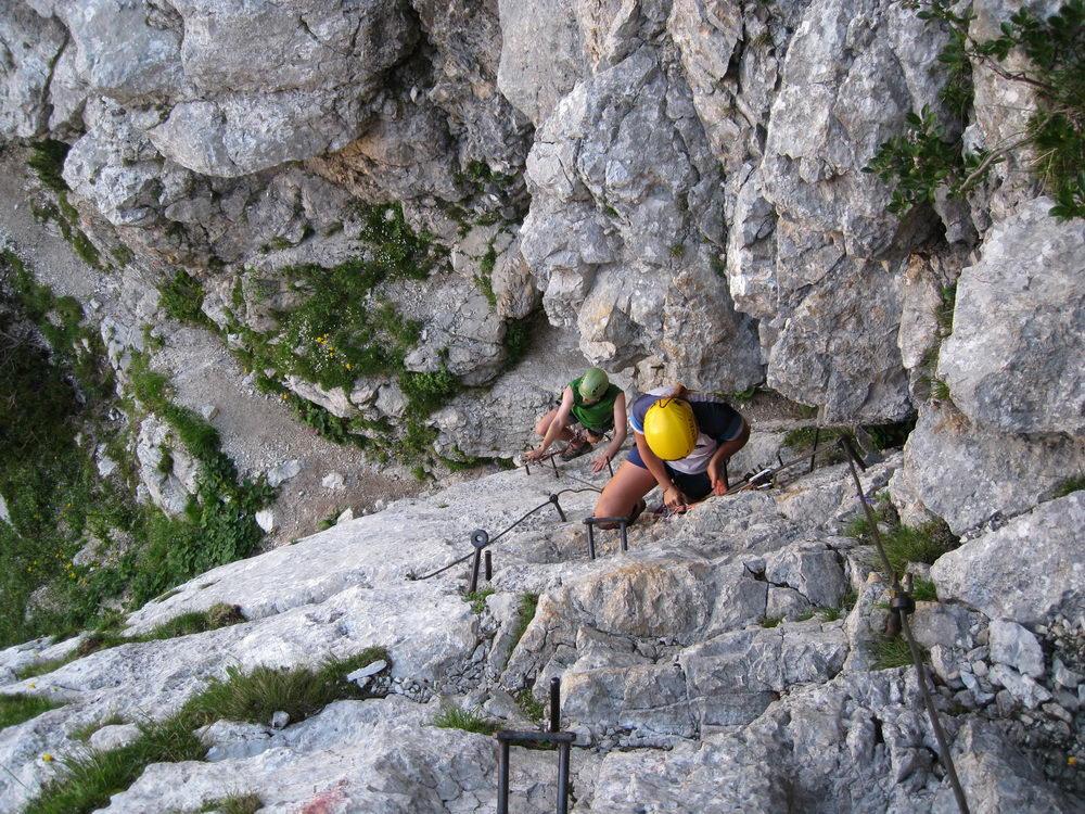 Cris + Em climbing (Triglav Nat. Park, Slovenia)