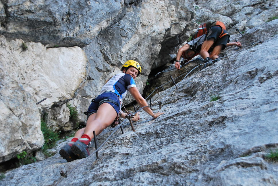 Em + Chris climbing (Triglav Nat. Park, Slovenia)