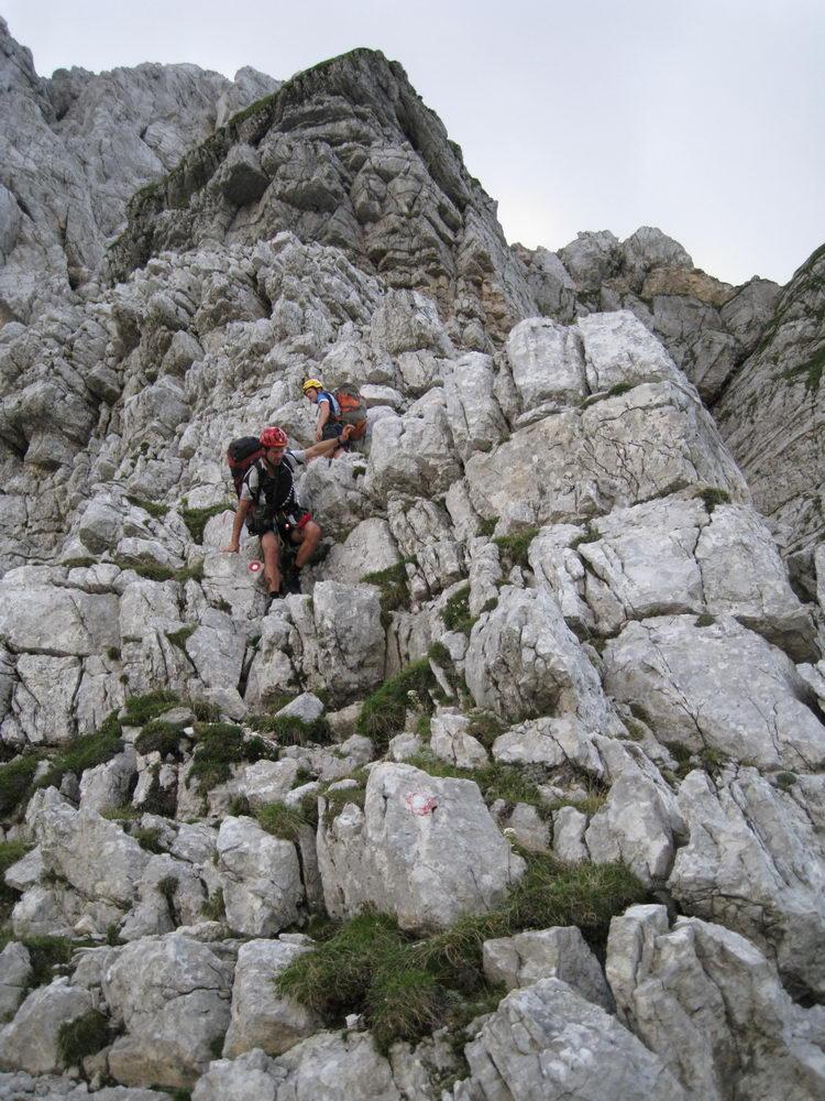 Em + Chris down climbing (Triglav Nat. Park, Slovenia)
