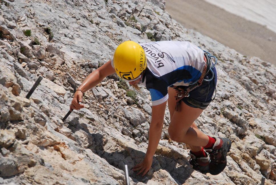 Em climbing (Triglav Nat. Park, Slovenia)