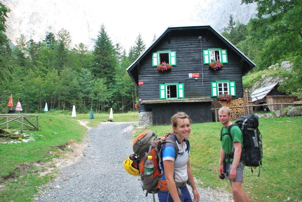 Em + Cris by hut (Triglav Nat. Park, Slovenia)